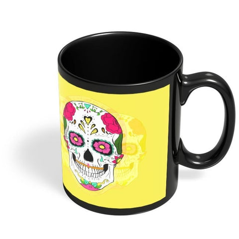 Coffee Mugs Online | Mr.. Springfield Skull |Psychedelic Black Coffee Mug Online India