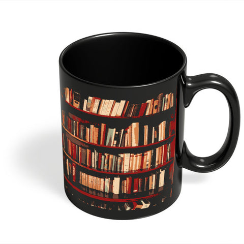 Coffee Mugs Online | Bookshelves Black Coffee Mug Online India
