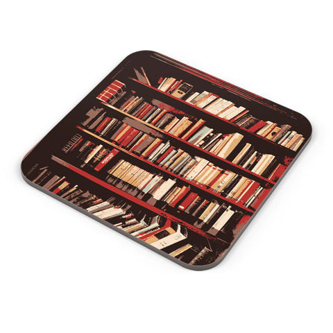 Buy Coasters Online | Bookshelves Coaster Online India | PosterGuy.in