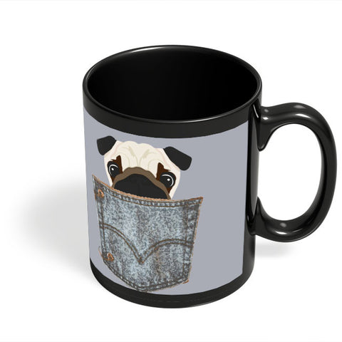 Coffee Mugs Online | Pug Black Coffee Mug Online India