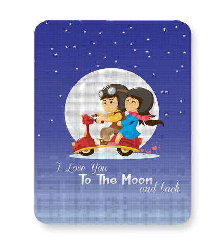 Buy Mousepads Online India | I Love You To The Moon And Back Mouse Pad Online India