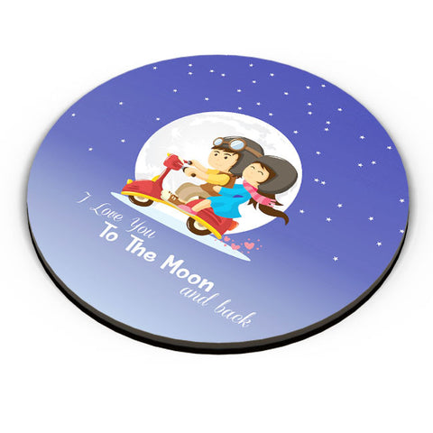 PosterGuy | I Love You To The Moon And Back Fridge Magnet Online India by Vaibhav Designs