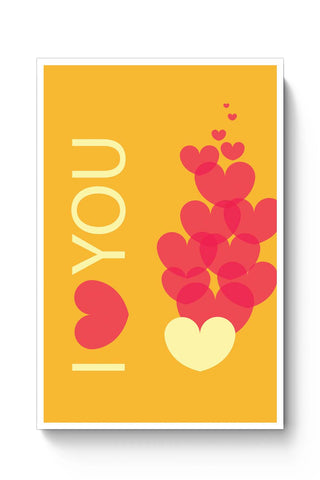 Posters Online | I Love You Poster Online India | Designed by: Vaibhav Designs