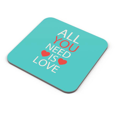 Buy Coasters Online | All You Need Is Love Coaster Online India | PosterGuy.in