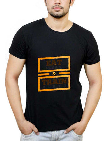 Buy Eat Clean And Train Dirty T-Shirts Online India | Eat Clean And Train Dirty T-Shirt | PosterGuy.in