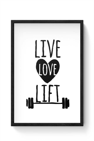 Framed Posters Online India | Live Love Lift Framed Poster Online India