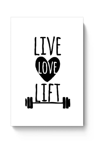 Posters Online | Live Love Lift Poster Online India | Designed by: Vaibhav Designs