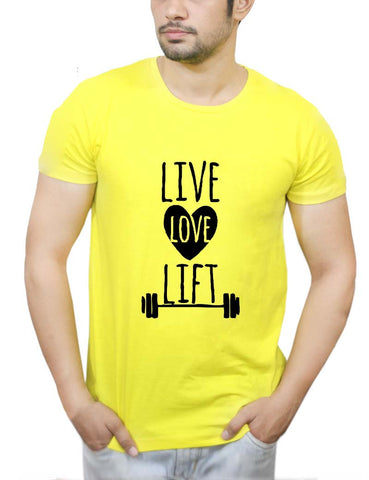 Buy Live Love Lift T-Shirts Online India | Live Love Lift T-Shirt | PosterGuy.in