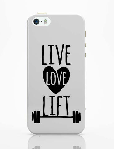iPhone 5 / 5S Cases & Covers | Live Love Lift iPhone 5 / 5S Case Cover Online India