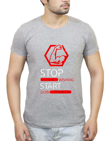 Buy Stop Wishing Start Doing T-Shirts Online India | Stop Wishing Start Doing T-Shirt | PosterGuy.in