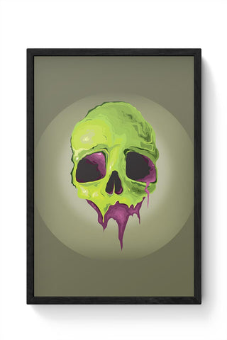 Framed Posters Online India | Liquid Skull Framed Poster Online India