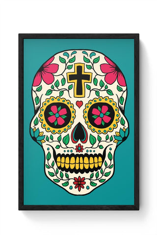 Framed Posters Online India | Skull Tattoo Framed Poster Online India