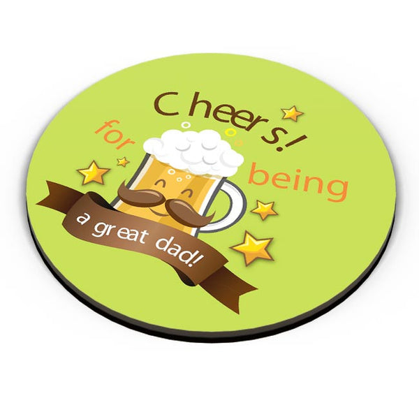 Cheers For Being A Great Dad Fridge Magnet Online India
