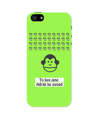 iPhone 5 / 5S Cases & Covers | Bandar | To Kya Jaane Adrak Ka Swaad iPhone 5 / 5S Case Online India