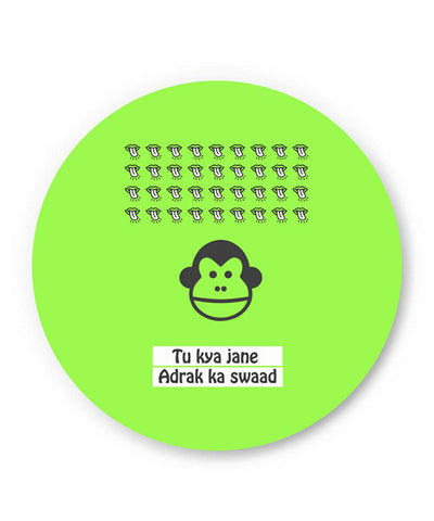 PosterGuy | Bandar | To Kya Jaane Adrak Ka Swaad Fridge Magnet Online India by Kanika Gupta
