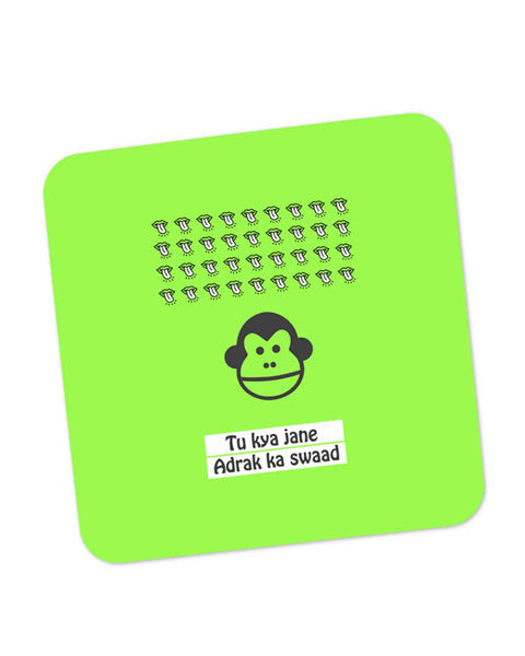 Buy Coasters Online | Bandar | To Kya Jaane Adrak Ka Swaad Coaster Online India | PosterGuy.in