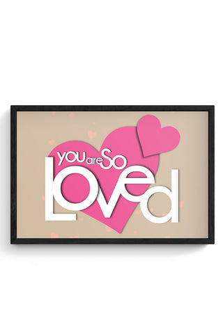 Framed Posters Online India | So Loved Laminated Framed Poster Online India
