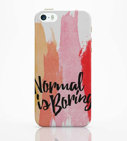 iPhone 5 / 5S Cases & Covers | Normal Is Boring iPhone 5 / 5S Case Online India