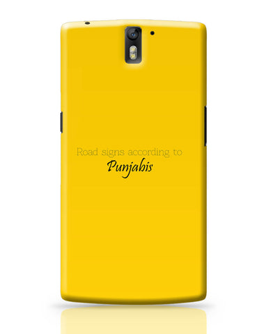 OnePlus One Covers | T Point AKA Chai-Di-Jagah | Road Sign for Punjabi OnePlus One Cover Online India