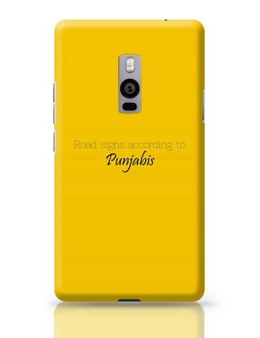 OnePlus Two Covers | T Point AKA Chai-Di-Jagah | Road Sign for Punjabi OnePlus Two Cover Online India
