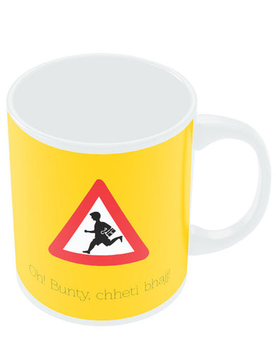 Coffee Mugs Online | Oh Bunty! Chetti Bhajj | Road Signs For Punjabis Mug Online India