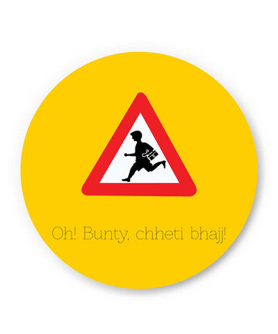 PosterGuy | Oh Bunty! Chetti Bhajj | Road Signs For Punjabis Fridge Magnet Online India by Jaspreet