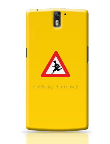 OnePlus One Covers | Oh Bunty! Chetti Bhajj | Road Signs For Punjabis OnePlus One Cover Online India