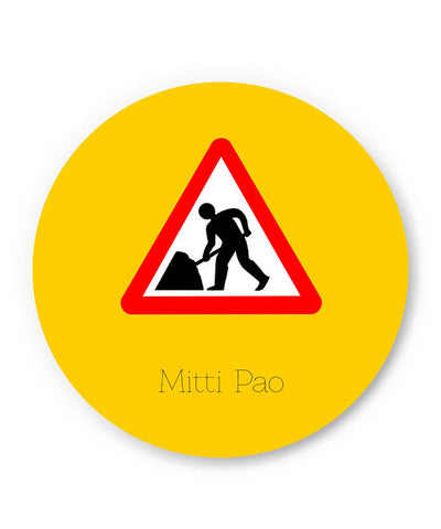 PosterGuy | Mitti pao | Road Signs For Punjabis Fridge Magnet Online India by Jaspreet