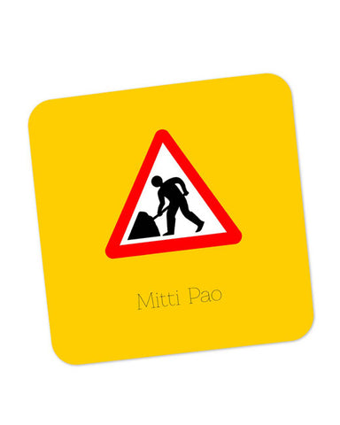 Buy Coasters Online | Mitti pao | Road Signs For Punjabis Coaster Online India | PosterGuy.in