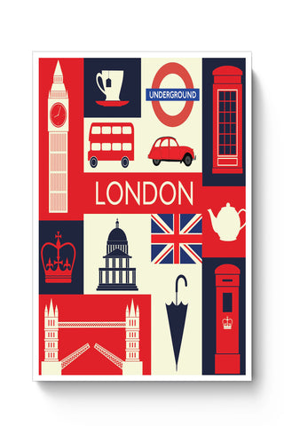 Posters Online | London City Illustration Poster Online India | Designed by: Arush