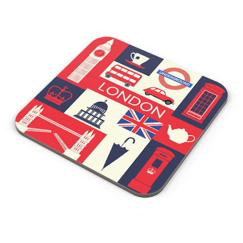 Buy Coasters Online | London City Illustration Coaster Online India | PosterGuy.in