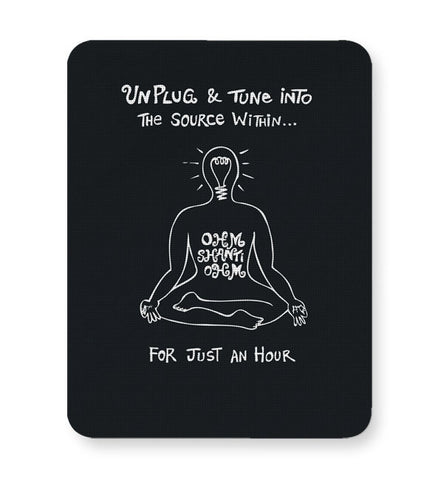 Buy Mousepads Online India | Om Shanti Om | Tune Into Source Within Mouse Pad Online India