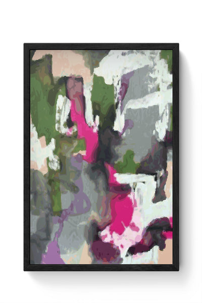 Framed Posters Online India | Abstract Art Splash Laminated Framed Poster Online India