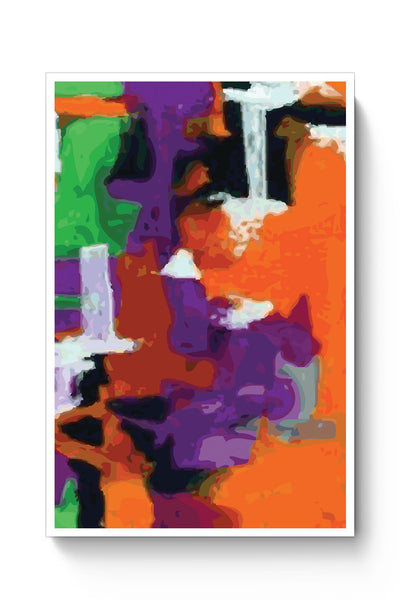 Posters Online | Abstract Art Orange Splash Poster Online India | Designed by: Derek M
