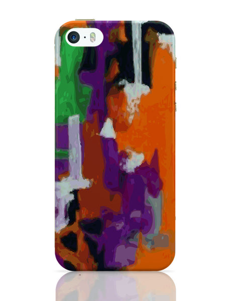 iPhone 5 / 5S Cases & Covers | Abstract Art Orange Splash iPhone 5 / 5S Case Online India