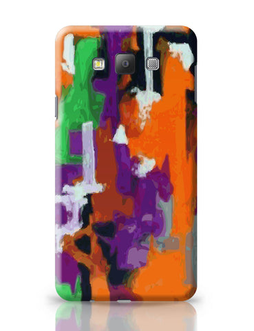 Samsung Galaxy A7 Covers | Abstract Art Orange Splash Samsung Galaxy A7 Covers Online India