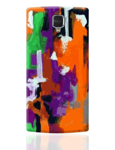 Abstract Art Orange Splash  OnePlus 3 Cover Online India