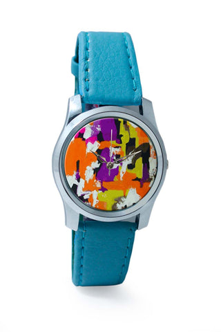 Women Wrist Watch India | Abstract Art Splash Wrist Watch Online India