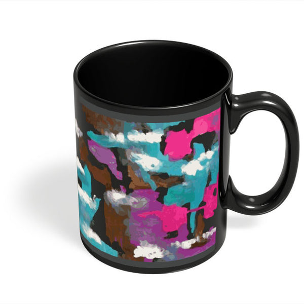 Coffee Mugs Online | Abstract Splash Black Coffee Mug Online India
