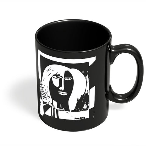 Coffee Mugs Online | A Freaky Love Affair Painting Black Coffee Mug Online India