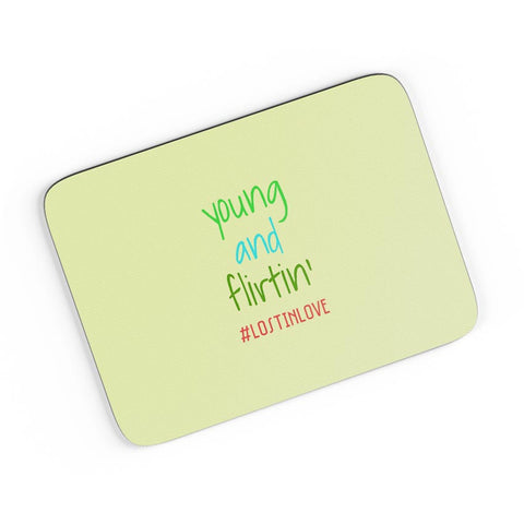 Young And Flirting Beige A4 Mousepad Online India