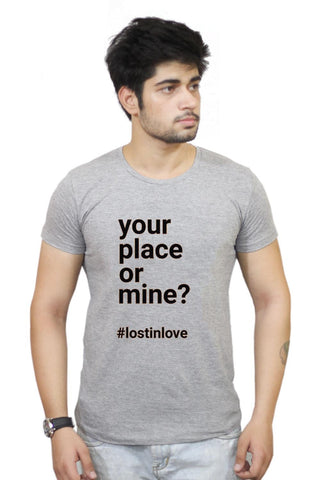 Buy Your Place Or Mine T-Shirts Online India | Your Place Or Mine T-Shirt | PosterGuy.in