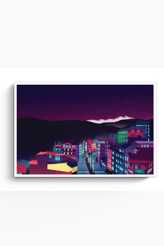 Posters Online | Gangtok Night Life Poster Online India | Designed by: Jigmi