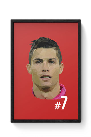 Framed Posters Online India | Cr7 Laminated Framed Poster Online India