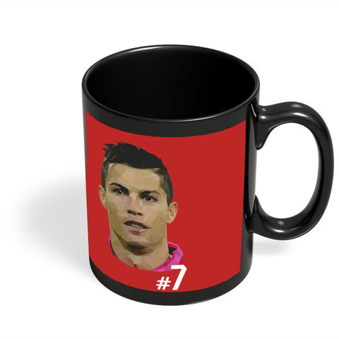 Coffee Mugs Online | Cr7 Black Coffee Mug Online India