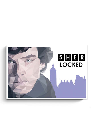Posters Online | Sher Locked Poster Online India | Designed by: Sanchitaa