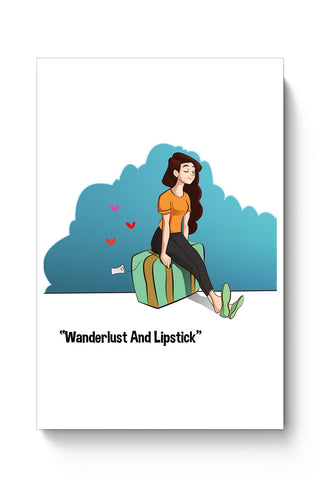 Posters Online | Wanderlust And Lipstick Poster Online India | Designed by: Gauraang Pant