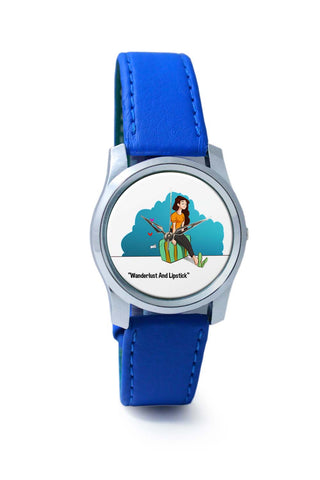 Women Wrist Watch India | Wanderlust And Lipstick Wrist Watch Online India