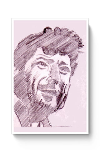 Posters Online | Amjad Khan Sketch Painting | Sketch Painting Poster Online India | Designed by: HeartAtArt