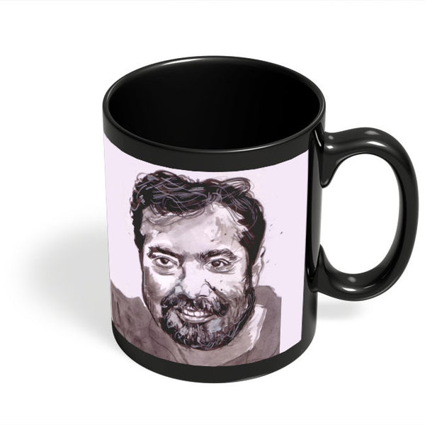 Coffee Mugs Online | Anurag Kashyap | Sketch Painting Black Coffee Mug Online India
